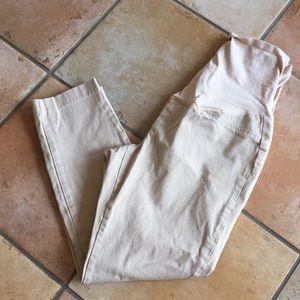 Maternity Capri Khaki pants size 6